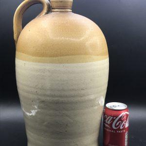 Large Antique Stoneware Flagon Bottle 19th Century