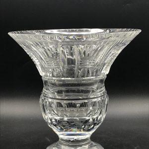 Vintage Large Very Heavy English Crystal Vase