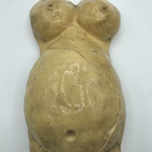 Very Large Studio Pottery of Female Nude Torso With Baby