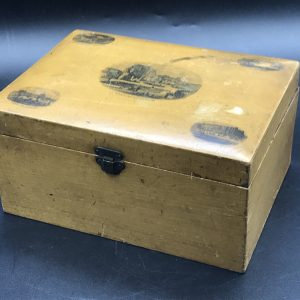 Antique Victorian Mauchline Ware Box Hastings Castle