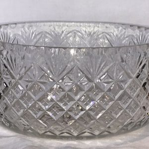 Large Beautiful Webb Corbet Cut Glass Crystal Bowl
