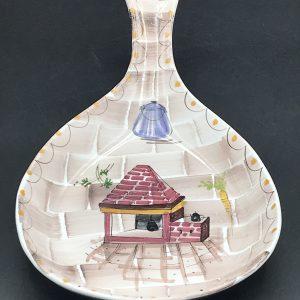 Mid Century Hand Painted Italian Pottery Dish Bowl Fratelli Fanciullacci