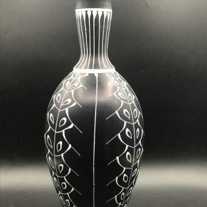 Rare 1950s Mid Century Larholm Sweedish Pottery Vase Norway 114