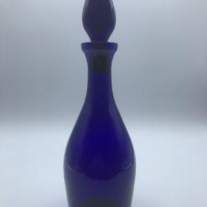 Vintage Bristol Blue Glass Decanter